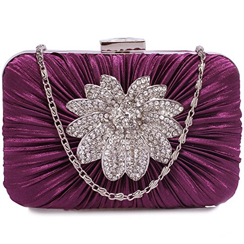 Ladies Purple Trendy Bag Night Fashion Quality Clutch Purse Desinger Handbags Women's out LeahWard® 1Sdyq1