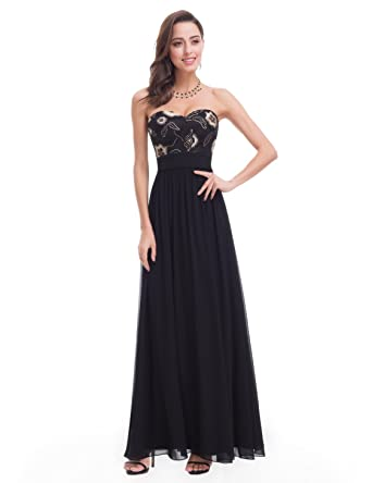 70875138885a Ever-Pretty Women's Strapless Ruched Bust Chiffon Long Sexy Evening ...