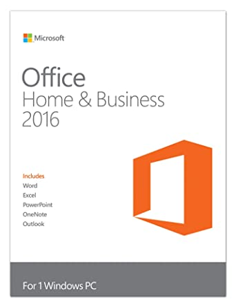 Microsoft Office Home and Business 2016 - Licence Key (PC): Amazon ...