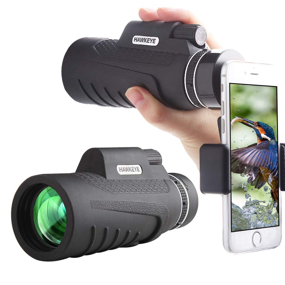 Monocular Telescope - Hunting/Camping/Travel/Water/Spotting/Fishing/Outdoor/Hiking - Smartphone Adapter Camera - Tripod Essential Phone Scope - Great Light/Night - Binoculars Spotting Scope by 257 Inc
