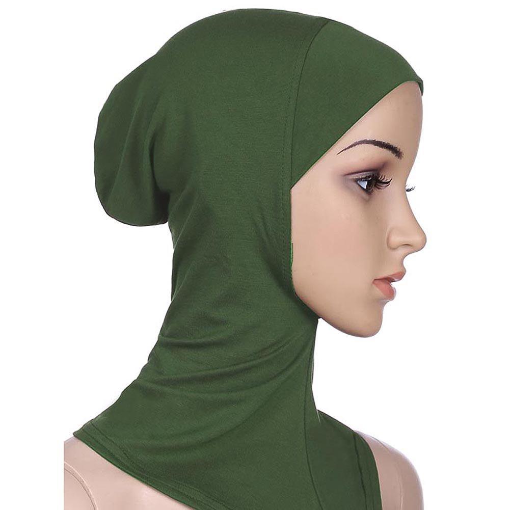 Ksweet Islamisch Stil Kopftuch Hijab kopft/ücher Leicht Unter Schal Knochen Bonnet 4pcs