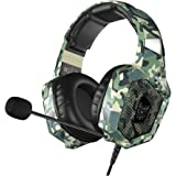 VersionTECH. Gaming Headset - Updated K8 Headset Gaming for PS4 New Xbox One, Stereo Over-Ear Headphones with Noise-canceling Microphone & LED Lights for PC Computer Mac Laptop Nintendo Switch Games