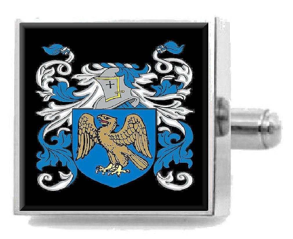 Select Gifts Honeyman Scotland Heraldry Crest Sterling Silver Cufflinks Engraved Box