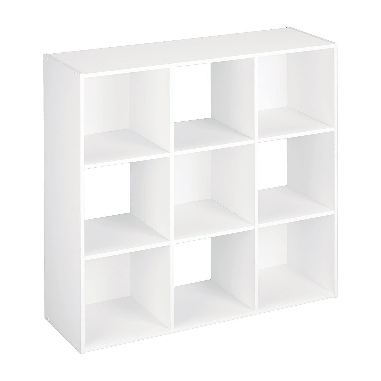 amazon com closetmaid 421 cubeicals organizer 9 cube white home rh amazon com cube shelving white and orange cube shelving white and orange