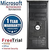 Dell 755 Business High Performance Tower Desktop Computer PC (Intel C2D E 2.53G,4G RAM DDR2,160G HDD,DVD-ROM,Windows 10 Home Premium)(Certified Refurbished)