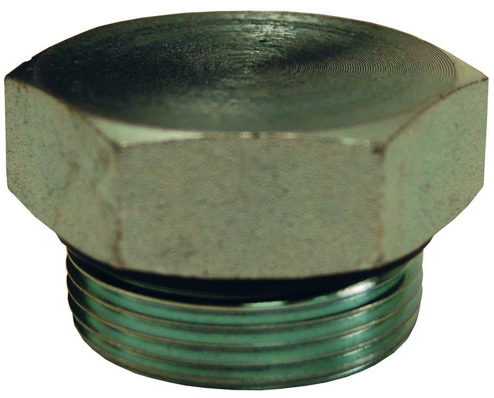 Dixon 1255-04H Hex Head SAE O-Ring Boss Thread Plug, 7/16''-20'', Zinc Plated Steel, 0.44''