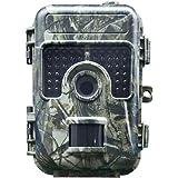 HH-662 トレイルカメラ 防犯カメラ 動き検知 1600万画素 16MP フルHD 1920x1080P IP66防水 赤外線LEDライト搭載 暗視カメラ 狩猟用カメラ 樹皮 隠しカメラ 監視カメラ (グレー)