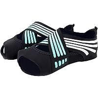 Risefit Non Slip Yoga Socks, Toeless Anti-Skid Pilates, Barre, Ballet, Bikram Workout Socks Shoes with Grips