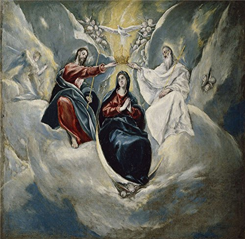 Transformers Costume Universal Studios ('El Greco The Coronation Of The Virgin 1592 ' Oil Painting, 8 X 8 Inch / 20 X 21 Cm ,printed On Perfect Effect Canvas ,this Amazing Art Decorative Canvas Prints Is Perfectly Suitalbe For Nursery Artwork And Home Decoration And Gifts)