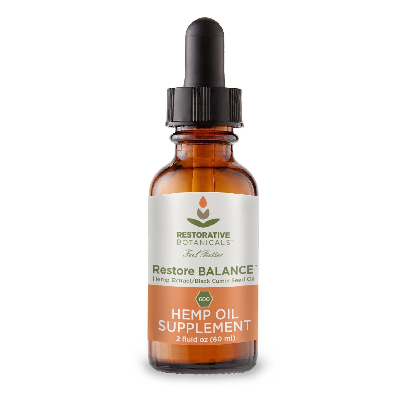 Restore Balance - Spicy Black Pepper Flavor Profile Hemp Oil Infused in Organic Black Cumin Seed Oil - 600 mg - 2 Ounce (60ml) - Organically Grown Colorado