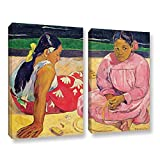 Paul Gauguin's Women Of Tahiti, 2 Piece Gallery-Wrapped Canvas Set 36X48 Paul Gauguin Women Of Tahiti, 2 Piece Gallery-Wrapped Canvas Set high quality print reproduction of an oil on canvas. This painting is a depiction of two women trying to find so...