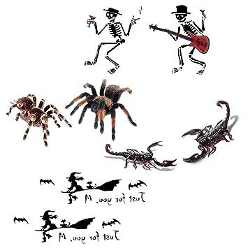 Amosfun - Pegatinas de tatuaje de araña, impermeables al agua ...