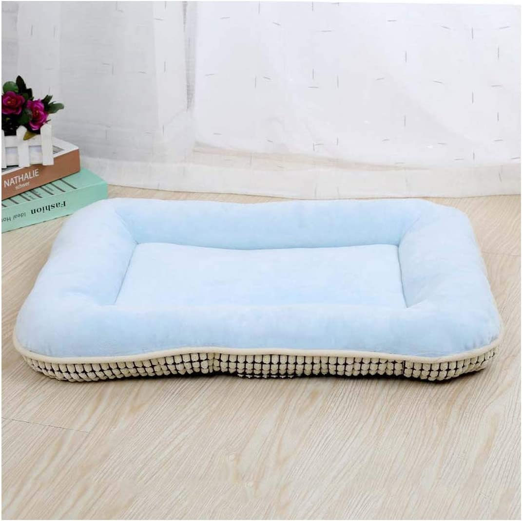 Car Dog Bed Mat Pet Cushion Summer Small Large Dogs Cooling Mats Puppy Cat Fleece Beds Cats Beds Pad,Blue,33X43 cm