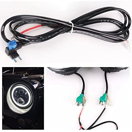 Universal Headlight Halo Angel Eye Drl Led Lights Lamp Wiring ... on universal ignition switch, universal neutral safety switch, universal brake light switch, universal cruise control switch, universal headlight trim ring, universal hood release cable, universal headlight relay harness, universal headlight assembly,