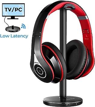 Actualidad] Mpow 059 Auriculares Inalámbricos para TV con Transmisor Bluetooth, Cascos Bluetooth TV con 20Hrs, Hi-Fi Estéreo, Low Latency para TV, PC, AV Receptor, Móviles, Juegos: Amazon.es: Electrónica