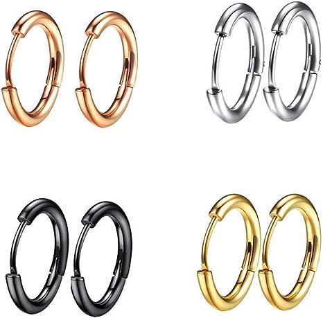 Conjunto de 6 Pares de Aretes Aros De Oro Círculo Redondo Paquete de 6 Regalo Boda Nupcial UK