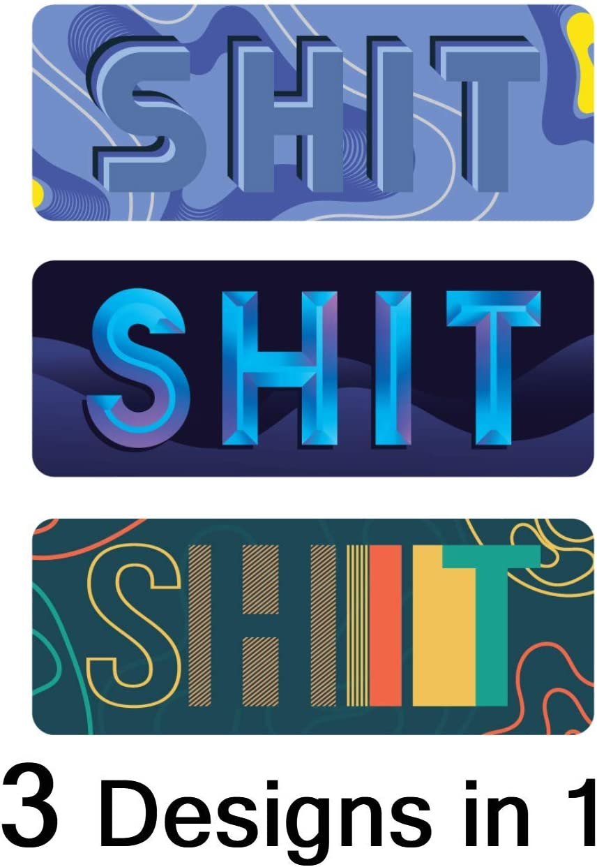 Apply to Mug Phone Laptop Water Bottle Decal Cooler Bumper Funny Sticker Let that Shit Go Shit Creek Happens Poo Emoji Give a Dookie #2 Duce Potty Poop Shitshow Poop Sticker 3 in 1 Designs