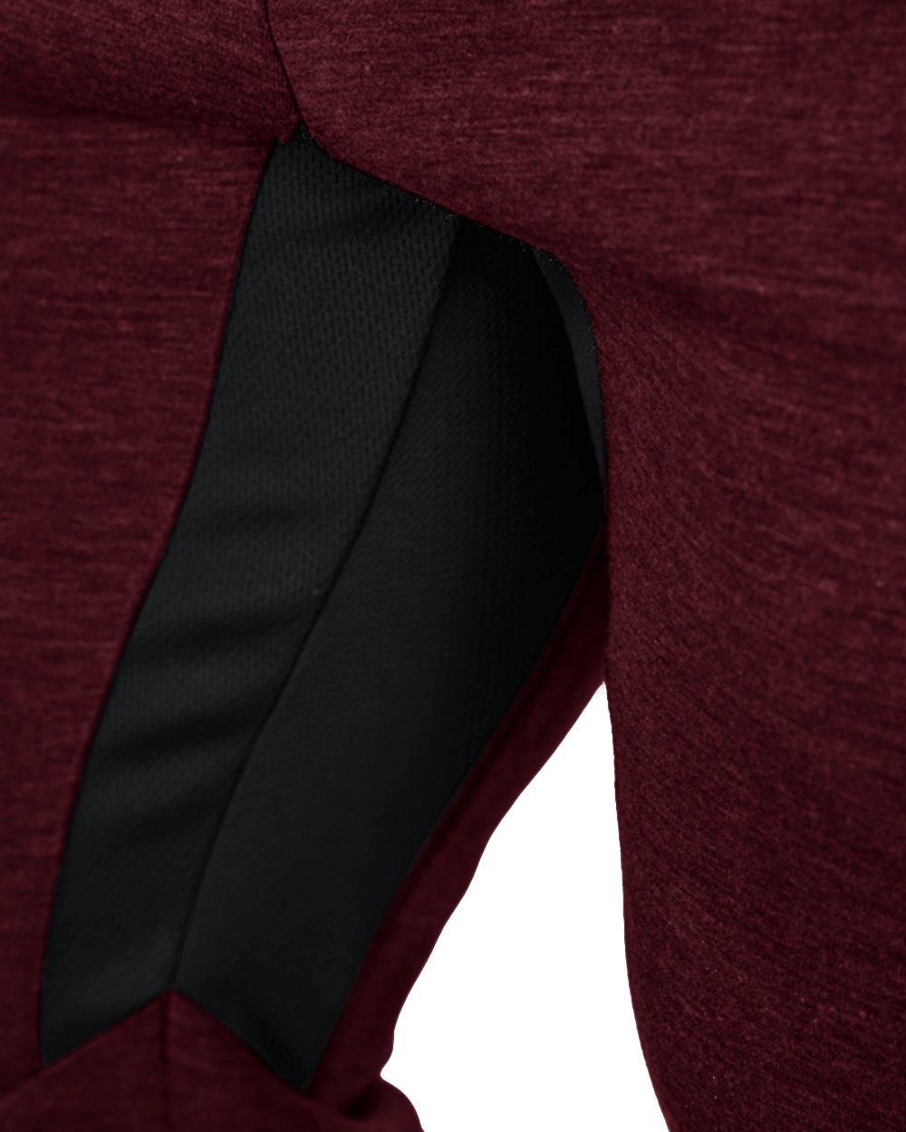 EKLENTSON Uomo Tre Quarti Pantaloni Capri 3//4/Allenamento Jogger Pantaloni Corti con Cerniera