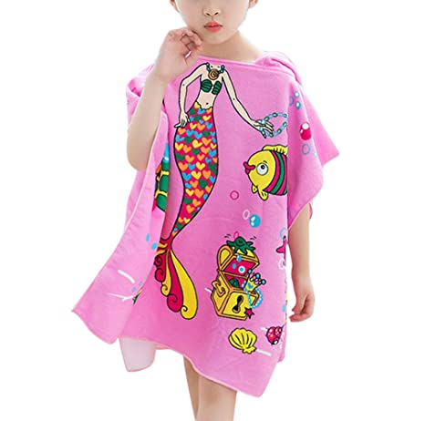 huateng Playa con capucha para niños Toallas de baño Toallas de baño para niños Toallas de
