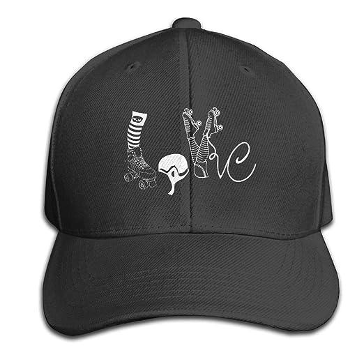 Amazon.com  Men Women Love Roller Skate Outdoor Duck Tongue Hats ... 69c6d0f18cd