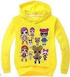 Socluer Principessa Ragazza Carina 3D Magliette per Ragazze Maglia Leggera con Cappuccio Dolls Cartoon Girl's