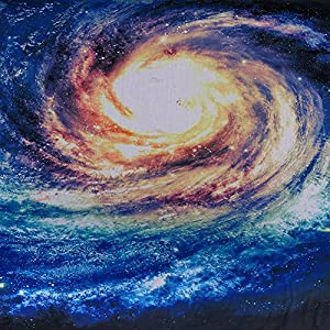 Spiral Galaxy Tapestry - Milky Way Stars Night Wall Hanging, Teens College High School Dorm Room Bedroom Decorations Accessories, Picnic Blanket Table Cloth Bed Cover - Queen Size, 79 x 60 inches