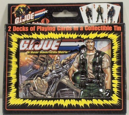 Collectors Embossed Tin (GI Joe vs Cobra Embossed Collector Tin with 2 Themed Decks of Playing Cards)