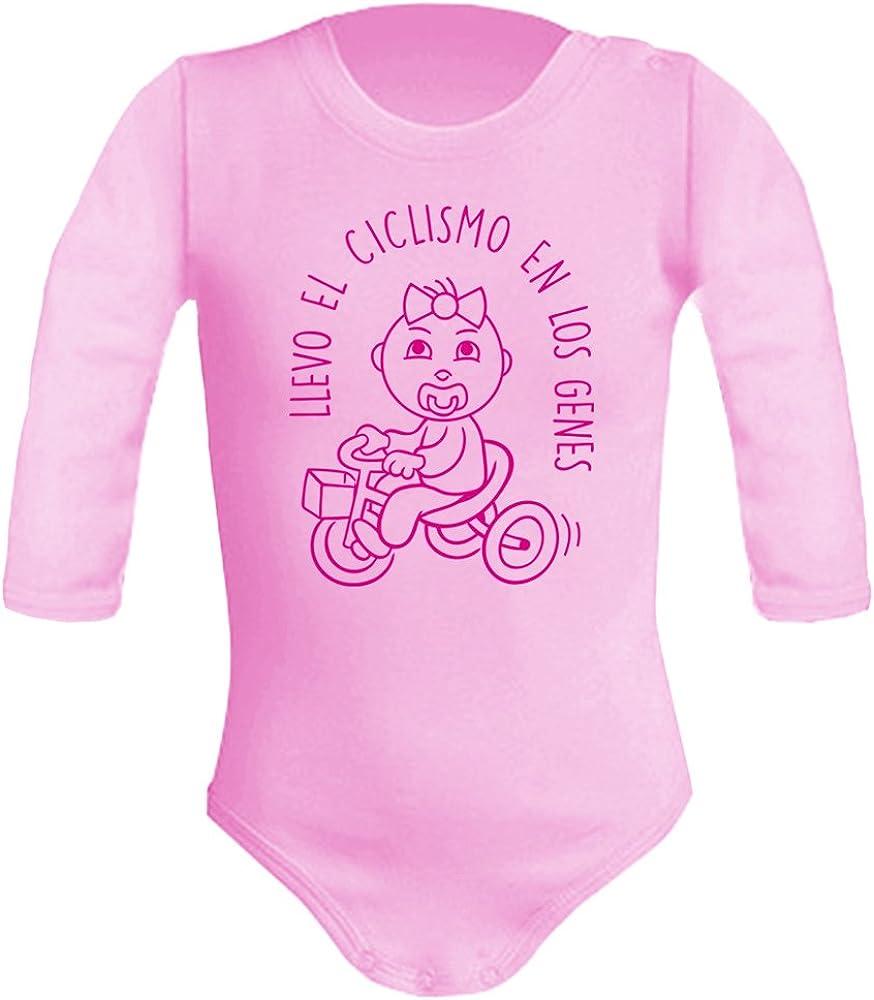 Body bebé unisex Llevo el ciclismo en los genes. Regalo original. Body bebé divertido. Bebé deportista. Manga larga.