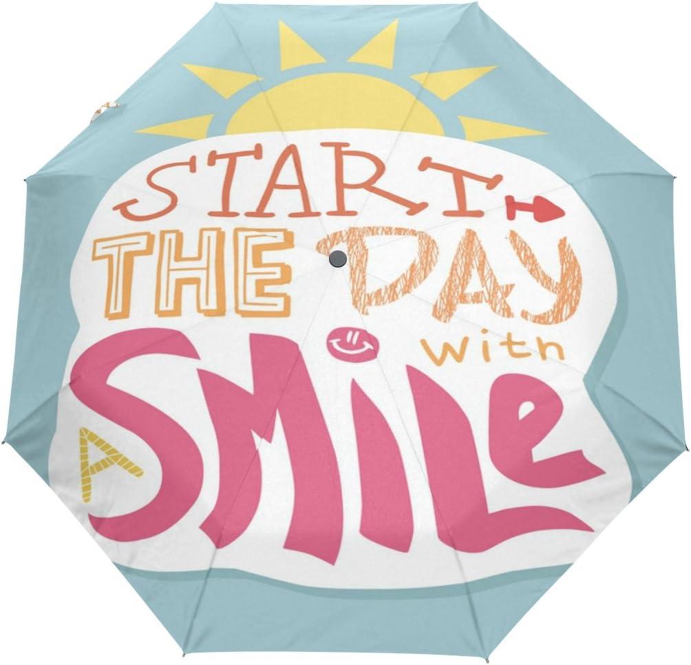 com u life cute quotes smile day auto open close windproof