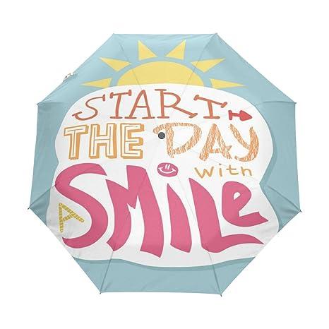 Amazon.com: U Vida Cute Quotes Sonrisa Día Auto Open Close ...