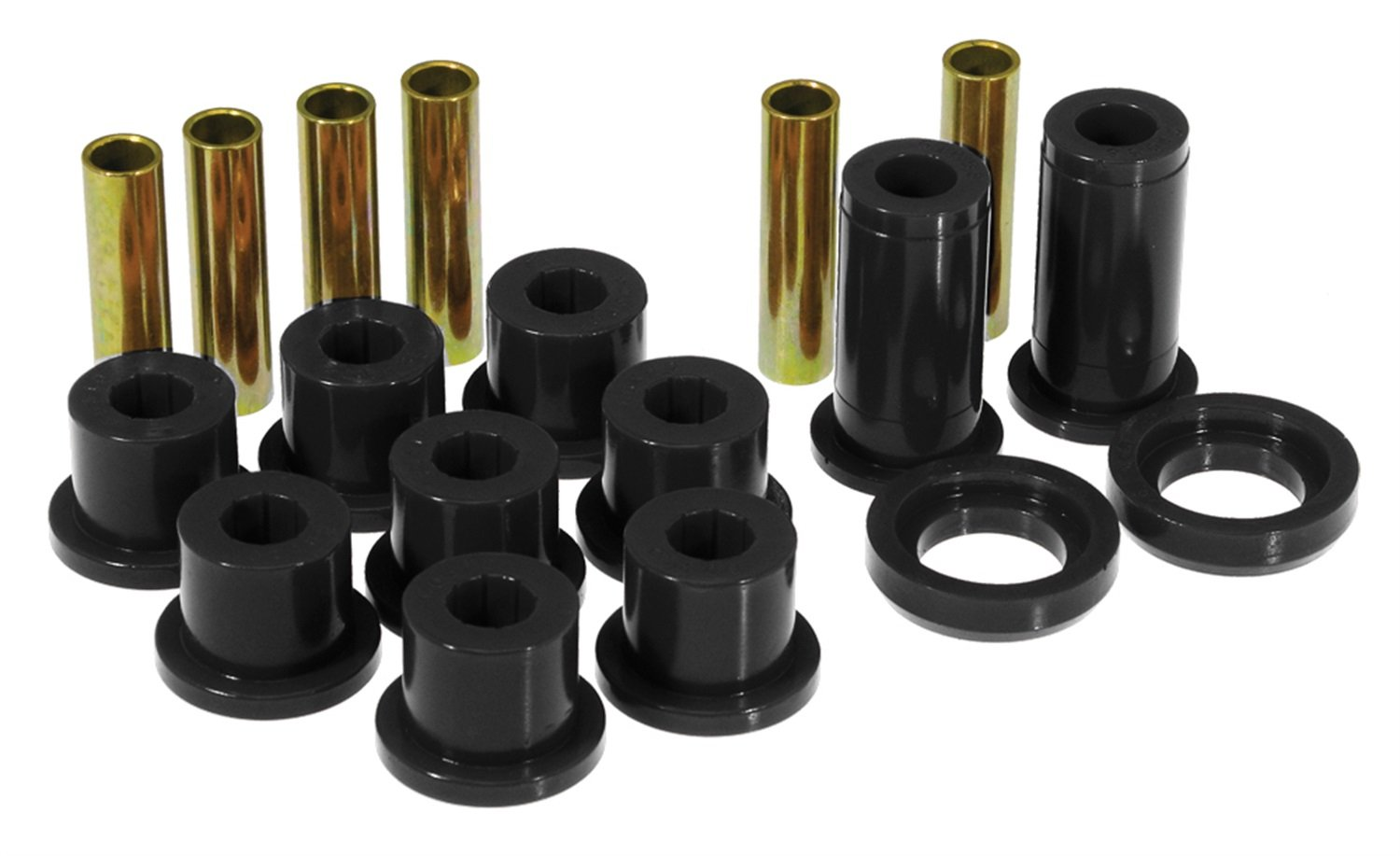 Prothane 7-1016-BL Black Rear Spring Eye and Shackle Bushing Kit