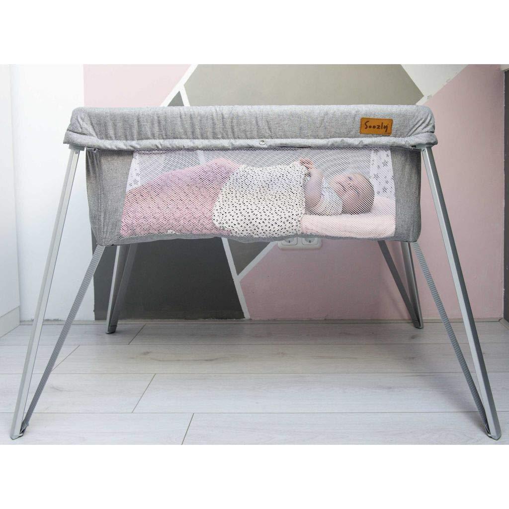 Soozly Baby Reisebett mit Insektenschutz Grau Babybett Klappbett Kinderbett