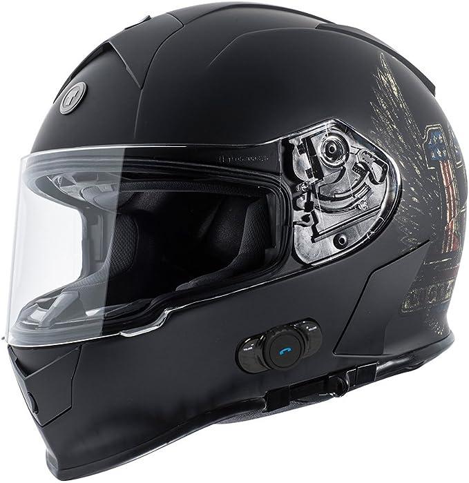 Gloss Black, X-Large TORC T14B Bluetooth Integrated Mako Full Face Helmet