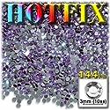 工芸のアウトレットDMC Hotfix優れた品質ガラス144ラウンドラインストーン装飾物、3mm、ラベンダーライトパープル