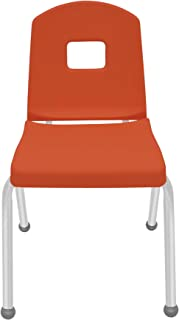 """product image for 16"""" Creative Colors Split Bucket Chair in Autumn Orange with Platinum Silver Frame and Ball Glide"""