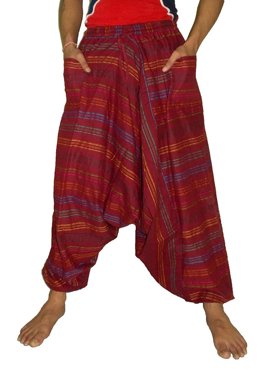 Men's Cotton Harem Genie Dance Yoga Alibaba Hippie Pants