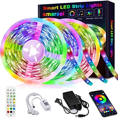50ft Led Strip Lights, Led Lights Strip Music Sync Color Changing Led Strip Lights App Control and Remote Led Lights for Bedroom Party Home Decoration