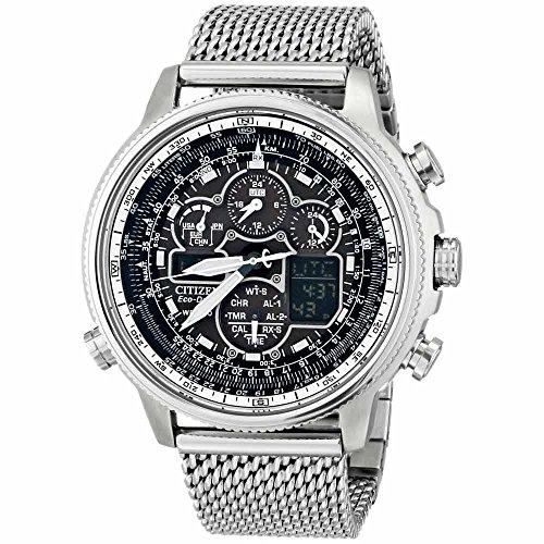 - Citizen Eco-Drive Men's JY8030-83E Navihawk A-T Analog Display Silver Watch