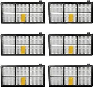 JUMBO FILTER 6pcs Hepa Filter Replacement for irobot Roomba 800 900 Series 805 860 870 871 880 890 960 980