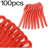 Chuancheng 16/24/50/80/100Pcs Plastic Cutter for Stihl PolyCut 2-2 Garden Lawn Mower Trimmer Blades 4008 007 1000 Grass Cutter Tool (100)