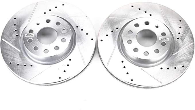 Power Stop AR8200XPR Front Evolution Drilled /& Slotted Rotor Pair