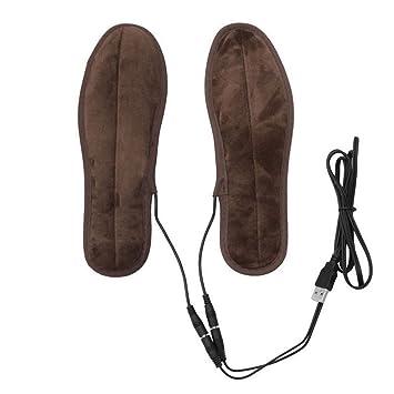 Invierno Hombres Mujeres cálido Plantillas calefactables, tukis puertas USB eléctrica Powered Peluche Calefacción Plantillas - Calentador de Zapatos Botas ...
