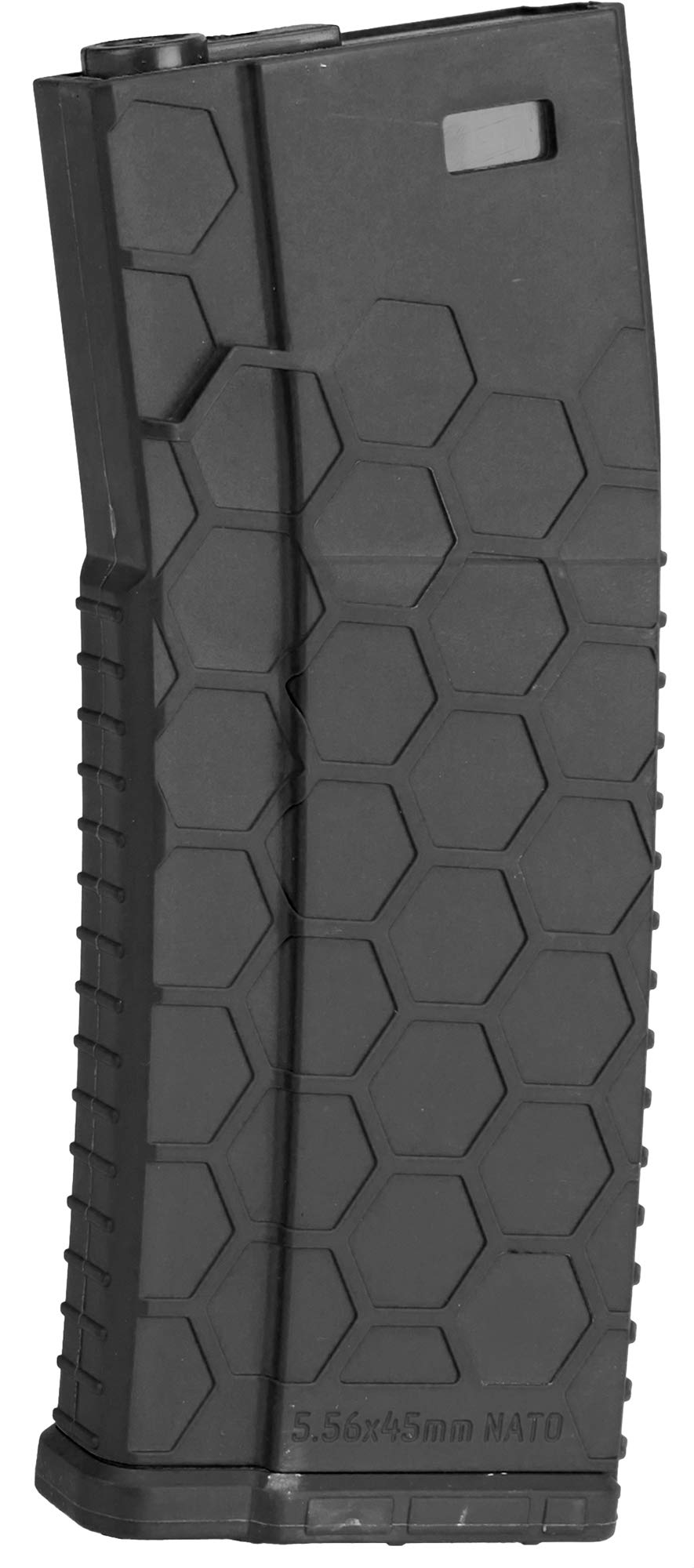 Evike Hexmag Airsoft 120rds Polymer Mid-Cap Magazine for M4 / M16 Series Airsoft AEG Rifles (Color: Black/Pack of 5) by Evike