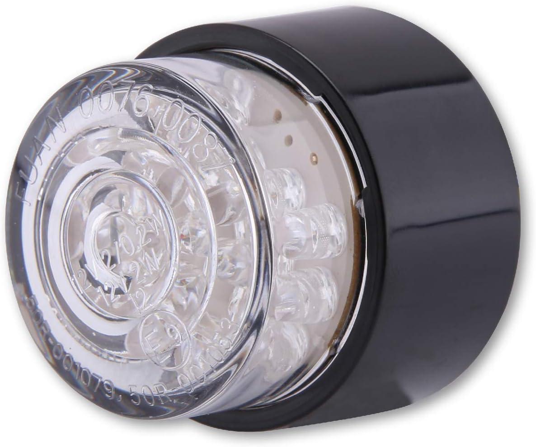 rund mit schwarzem Geh/äuse SHIN YO LED-Mini-R/ücklicht BULLET