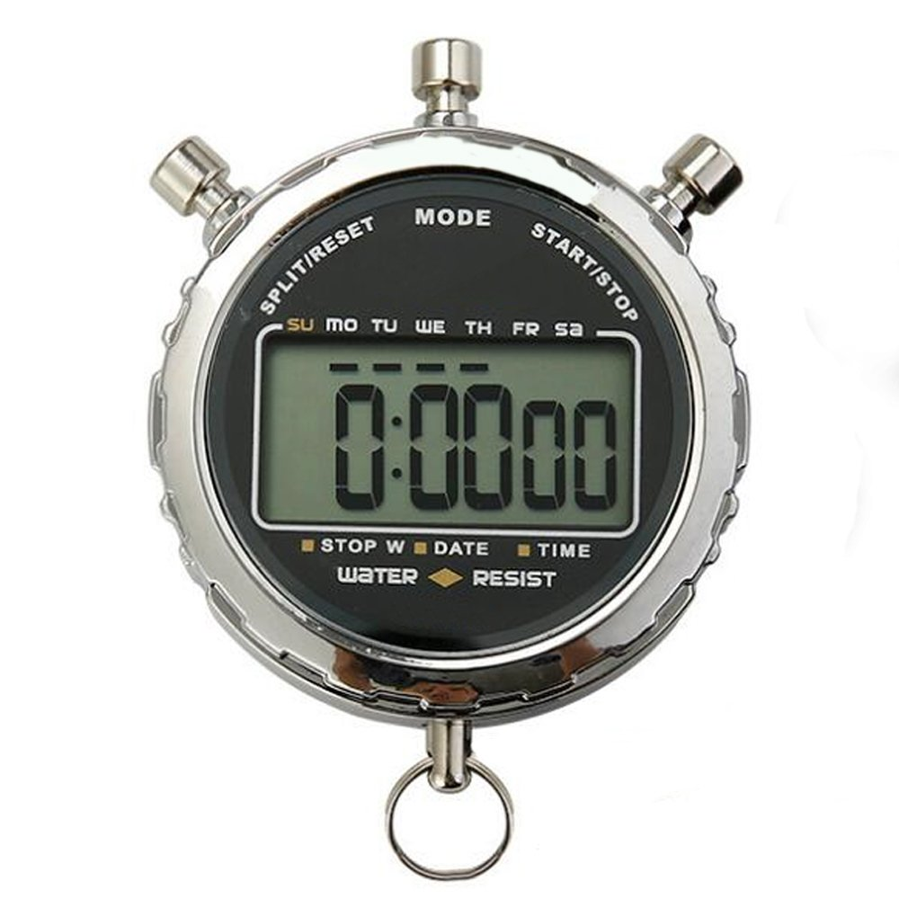 LAOPAO Sport Stopwatch, 1/100 Second 2 Memories Handheld Digital Clock Stop Watch with Large Display for Kid Child Adult Daily Referee, Training, Running, Competition