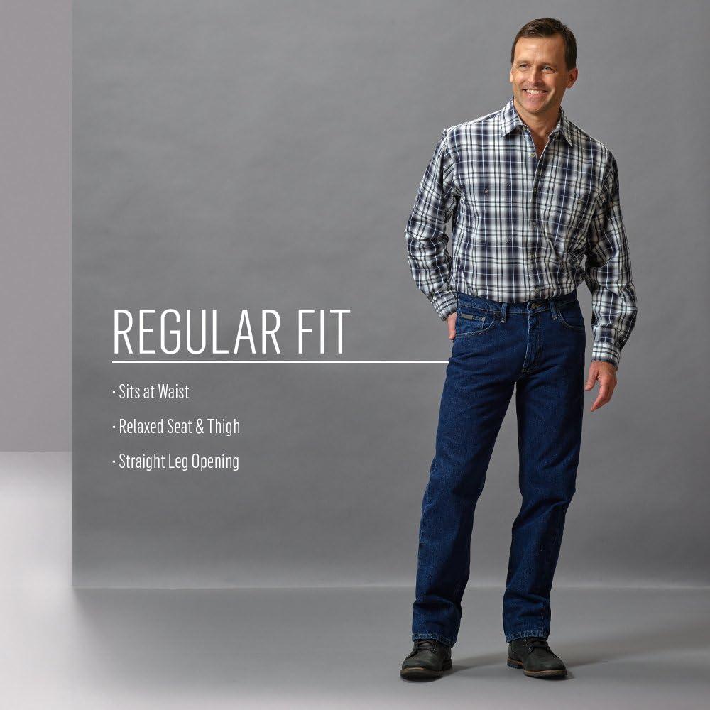 4ed59245 Men's Genuine Regular-Fit Jean. Wrangler Men's Regular Fit Jeans, Dark Denim  ...