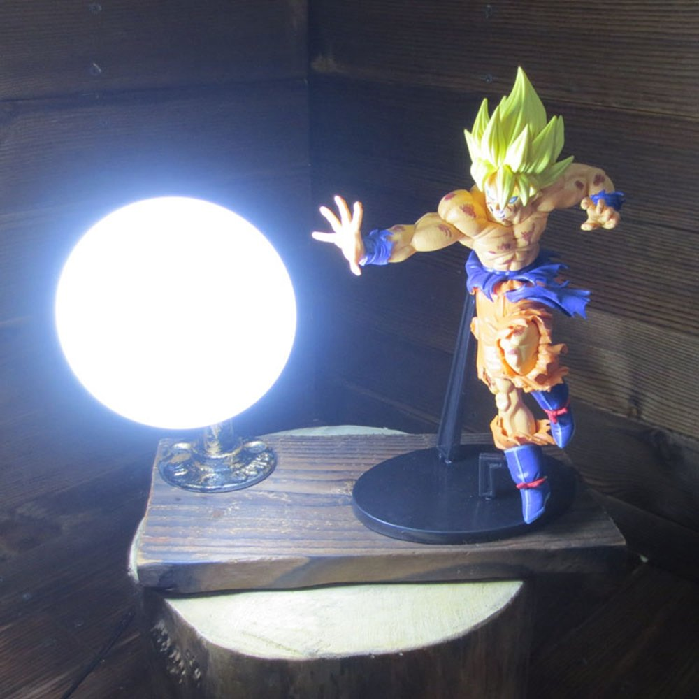 Dragon Ball Son Goku Red Genki Dama Spirit Bomb LED Table Lamp by Aurookeb