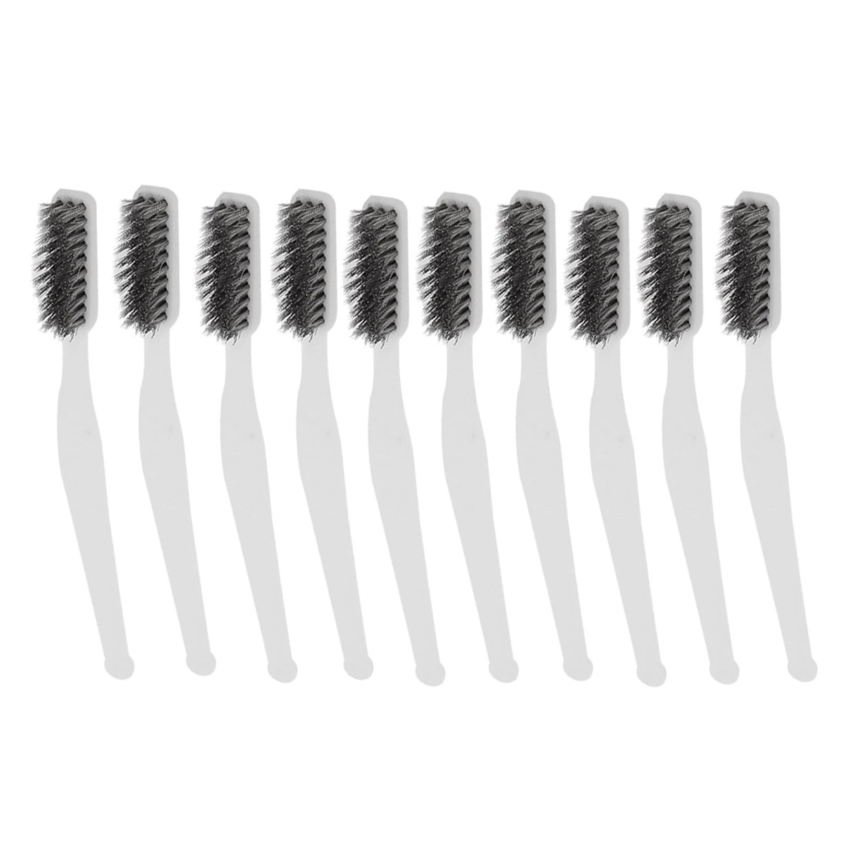 Saim 7 inch Mini Stainless Steel Wire Brush Set for Cleaning Welding Slag and Rust Pack of 10