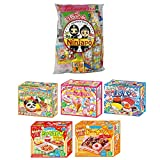 Assortment of 5 Kracie Popin Cookin & Happy Kitchen kits & Japanese Snacks ''Dagashi'' 20pcs Set Ninjapo Package Sweets Candy
