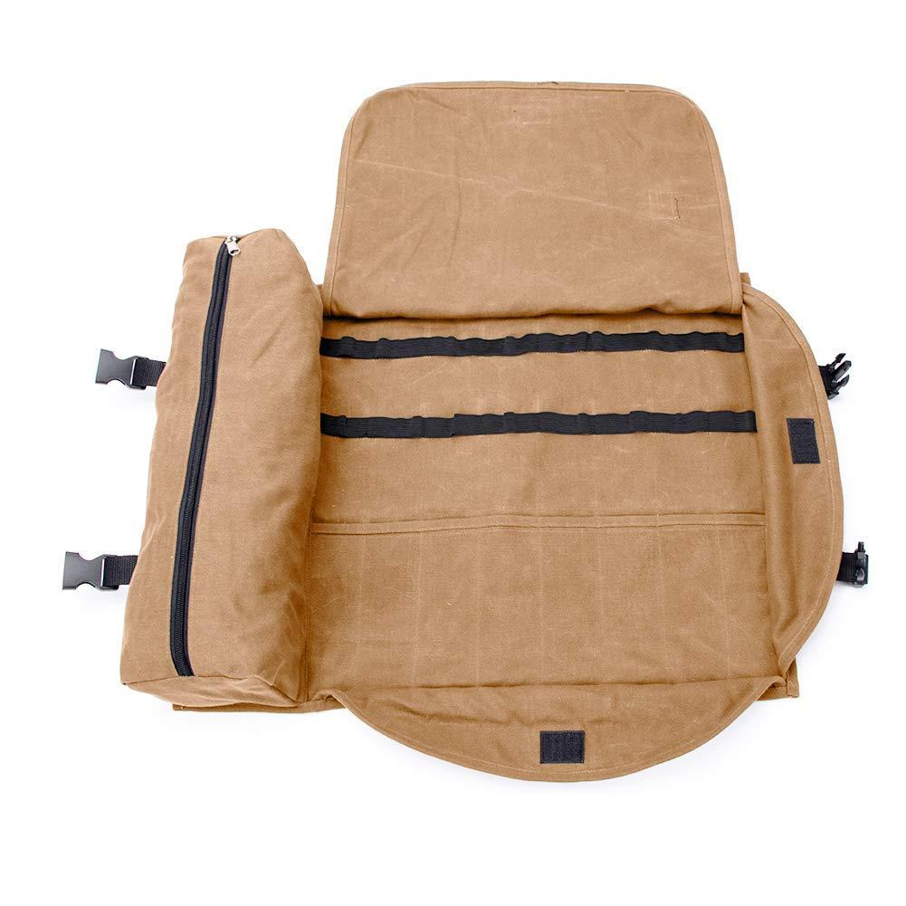 port/átil juego de barras grande bolsa de herramientas QEES Bartender Kit bolsa de mano casa y lugar de trabajo para hacer c/ócteles para viajes GJB309 15.7x 3.5x 3.1 caqui